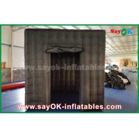 Buy cheap 2 Doors Inflatable Photo Booth With LED Light Oxford Cloth 2.5m  Black from wholesalers