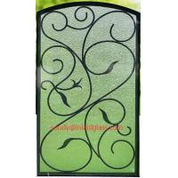 Quality interior doors wrought iron glass made in China for sale
