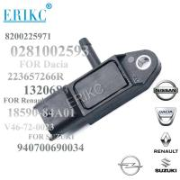 Buy cheap ERIKC car fit 0281002593  Intake Air Manifold Absolute Pressure MAP Sensor 8200225971 for SUZUKI NISSAN RENAULT from wholesalers