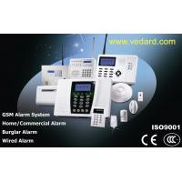 China Home GSM quad band Alarm Systems with siren, smoke detector, door sensor, infrared sensor, keypad retail & wholesale security on sale