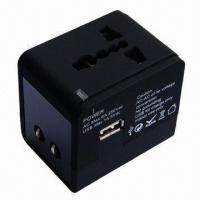 Quality Multi-socket World Travel Plug Adapter with 100 to 250V AC, 6A Input Voltage for sale