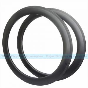 Quality 7-tiger Disk Bike 60 x 25 mm basalt brake carbon Clincher road rims ud weave matte U shape bicycle wheels for sale