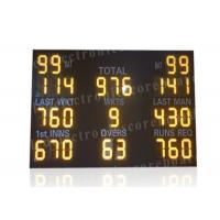 Quality Yellow Electronic Cricket Scoreboards , Cricket Digital Scoreboard Waterproof Frame for sale