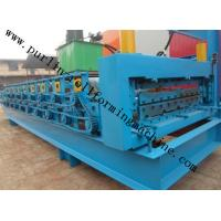 Quality High Efficiency Double Layer Cold Roll Forming Machine for Roofing Tile / Wall Panel for sale
