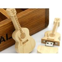 Quality Guitar shaped USD 3.0 personalized flash drive gift with laser engraved logo for sale