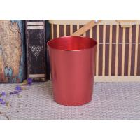 Quality Decoration Red Copper V Shaped Cup Metal Candle Jar Tin Candle Containers for sale