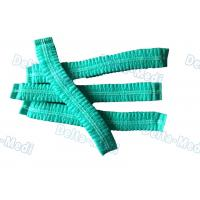 China Green Single Elastic Disposable Mob Cap , Doctor Bouffant Disposable Hair Cover on sale