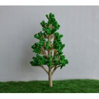 China 40mm Railroad Layout Miniature Model Trees Roadside Green color architecture trees on sale