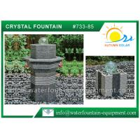 Quality Glass Rolling Ball Small Garden Water Features , Different Shape Granite Ball Fountain for sale