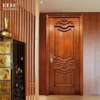 Quality Safety Residential Solid Hardwood Internal Doors With Handmade Carved Flowers for sale