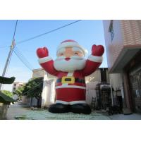 Quality Attractive Outdoor Inflatable Christmas Decorations Blow Up Santa Claus 8mH for sale