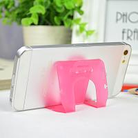 Quality Small Pink Pp Phone Desk Stand Cable Drop Clips Boomray 5.1*8.5 for sale