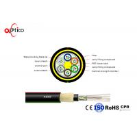 China G652D Aerial Optical Network Cable , 96 Cores Outdoor ADSS Fiber Optic Network Cable on sale