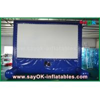 Quality Blue Inflatable Outdoor Movie Screen Customized for Advertising / Party / Event for sale