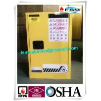 Quality Steel Yellow Industrial Safety Cabinets For Laboratory Flammable / Dangerous Goods for sale