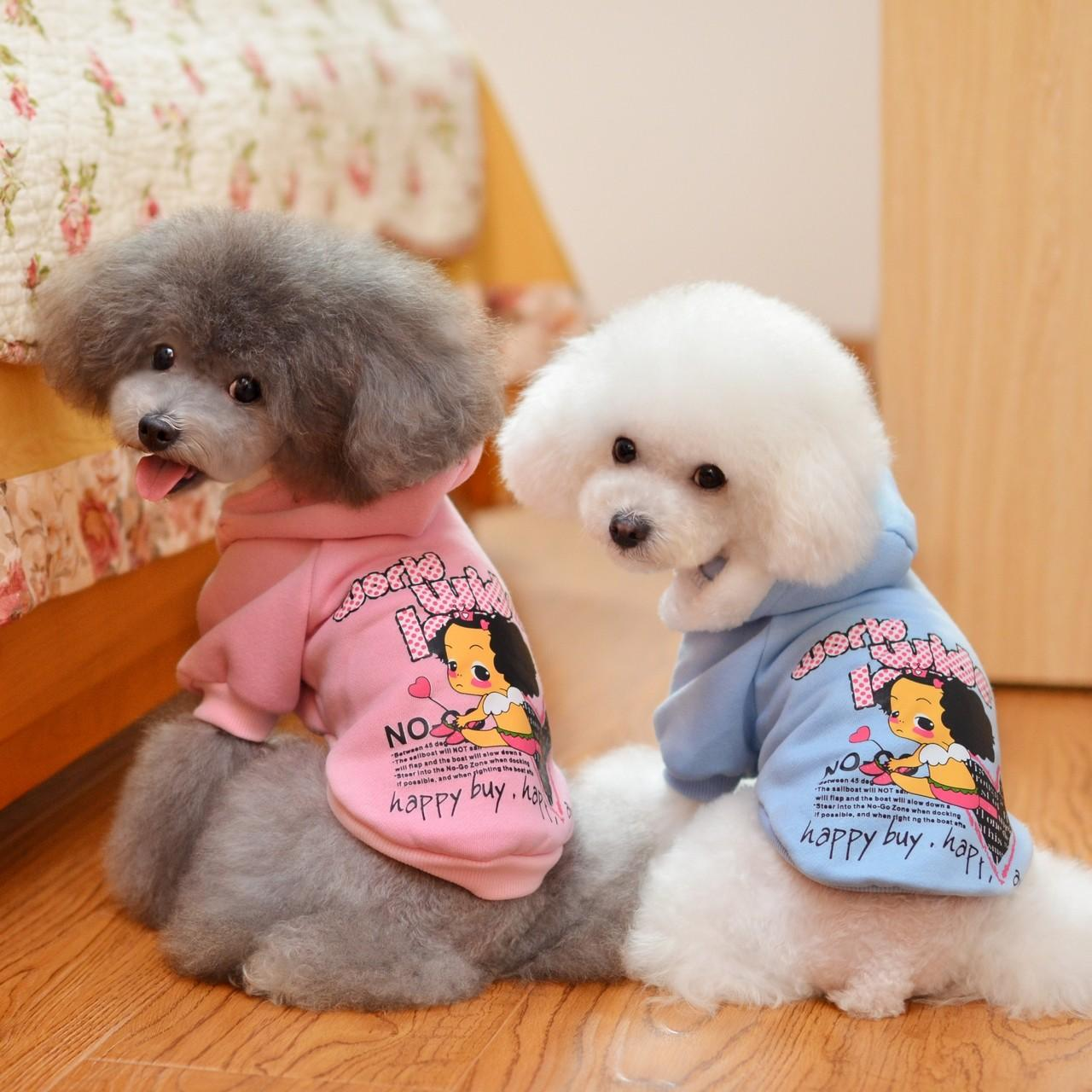 China Fashion Girl logo Sweater Pink Personalized Dog Clothes on sale