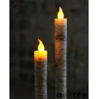Quality Warm White Light Taper Led Candles With Moving Flame AA Battery Type for sale