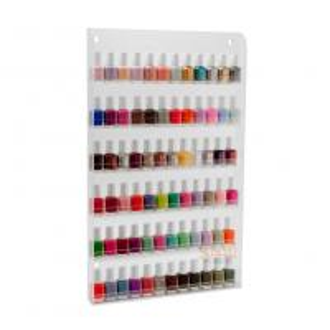 Quality Custom Clear Acrylic Nail Polish Wall Rack DisplayStorage Shelf6 Tiers for sale