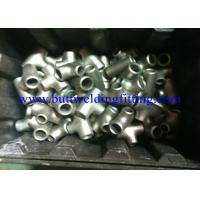 Quality Weld Pipe Fittings Duplex Stainless Steel Pipe Tee A815 Uns S31803, S32750, S32760 for sale