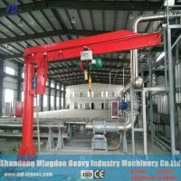 Quality MD Cranes 3ton- 5 ton Column Mounted Electric Jib Crane Installed with Electric Hoist for sale