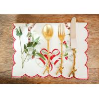 Quality Embroidered Personalized Fashion Gifts Plain Style Decor Christmas Table Napkins for sale
