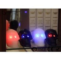 Quality Skull Shaped Safety Halloween Led Candles For Home Decoration 340g for sale
