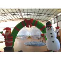 Quality Holiday Blow Up Christmas Decorations , Inflatable Christmas Arch Ornaments 4.6 X 3.6m for sale