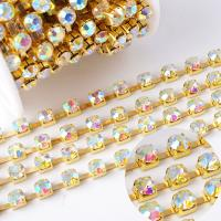 Quality Cupchain Crystal AB Cup Chain Furniture Jewelry Wine Earring Accessories Clothing Trims Home Decoration Fashion Trimming for sale