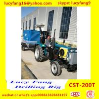 China Cheapest Good Quality Tractor Mounted Mobile Water Well Drilling Rig For 100-120m Depth for sale