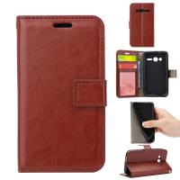 Quality Light Weight Alcatel Pixi 4 Leather Case 4 Inch Flexible With Three Cards Slot for sale