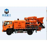 China Loading Diesel Engine Truck Mixer Pump Imported PLC 0.7m³ Hopper Capacity on sale