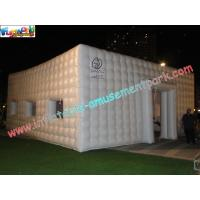 Quality White Cube Inflatable Party Tent , Inflatable Buildings For Exhibition for sale