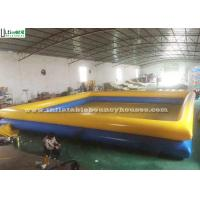 China 1 Meter High Yellow N Blue Inflatable Water Pools Double Deck For Swimming Or Aquatic Pastime on sale