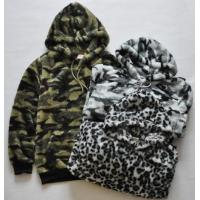 Casual Womens / Mens Oversized Pullover Hoodie Camouflage / Leopard Printed for sale