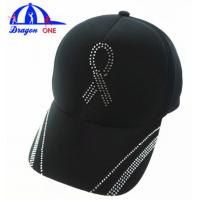 Buy Customs 5 Panel Cap Black Ottoman Cap , Crystal Logo Cap Oem at wholesale prices