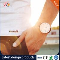 China Wholesale Men's Watches PU Watch Band/Strap Alloy Case Business Watches Fashion Watches Can Be Customized Logo on sale
