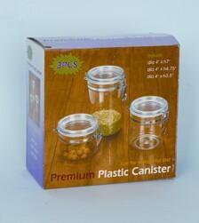 Quality 3PCS Premium Plastic Canister for sale
