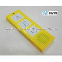 Buy cheap Plastic ABS Material Baby Sound Module Alphabets 0.25W / 8Ω Speaker With Button from wholesalers