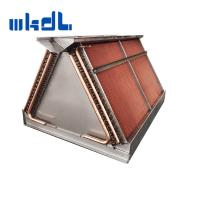 Quality copper tube fin heat exchange double coils air cooled condenser with factory price for sale