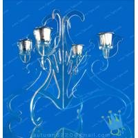 Quality CH (27) tall Acrylic hurricane candle holders for sale