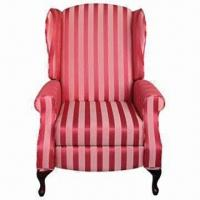 Quality Handle-free Recliner with Wing Back Sofa, Available in Stripe Fabric for sale