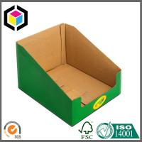 Quality Color Printing Corrugated Cardboard Display Box for Book; Bottom Locking Display for sale