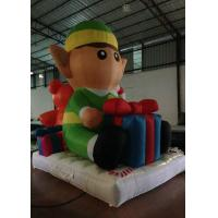 Quality Lovely Cartoon Inflatable Christmas Decorations Pear 3.5 X 2.5 X 4m Fire Resistance for sale