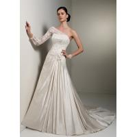 Quality NEW!!! One shoulder Aline Low back wedding dress Lace Bridal gown #dq5070 for sale