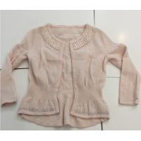 Quality Hot Fix Rhinestones Kids Knitted Sweater Cardigan Long Sleeve For Girls for sale