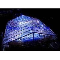 Huge Clear span tent transparent cover, Large Luxury clear marquee 50 x 55 m for 2000 people for sale
