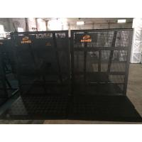 Buy Easy Install Black Crowd Safety Barriers Lightweight / Foldable For Revolt Activities at wholesale prices