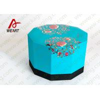 Quality Blue Lid & Black Base Cardboard Food Packaging Boxes , Decorative Cardboard Boxes With Lids for sale