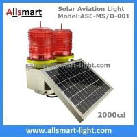 Quality 2000cd Red Solar Aviation Obstruction Light Double Head Warning Light for Communication Lattice Tower High Building for sale