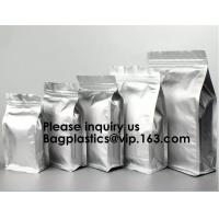 Aluminum Foil Stand Up Packaging Bags Mylar Airtight Zipper Pouches Smell Proof Coffee Ziplock Tear Notch Pack Food Grad